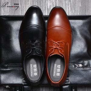 普瑞森春季男士牛皮鞋加绒英伦圆头正装鞋子 券后¥89