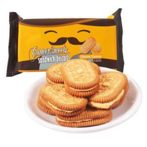印尼进口 卡乐米斯 Corner Meets 夹心饼干 芝士味 120g/袋 *23件102.4元(合4.45元/件)
