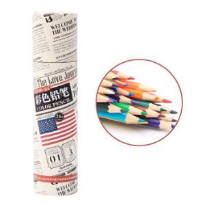 至尚・创美(SCM ) V8308-24色 木质彩色铅笔/彩铅/填色笔 24支/桶7元