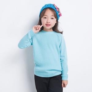 考拉工厂店 女童纯色竖纹羊绒衫 107.2元