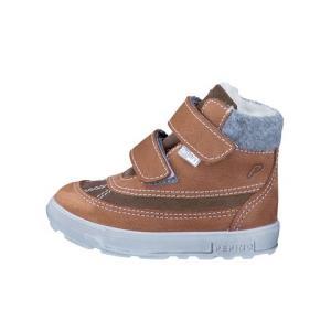 PEPINO 派皮诺 FREDDY 系列 大童魔术贴短靴 棕色 *2件 269元(合134.5元/件)