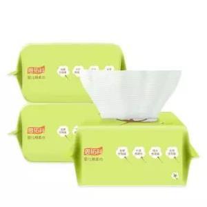 思拓科 婴儿棉柔巾100片3包 *14件 198.6元(合14.19元/件)