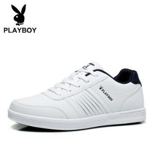 花花公子(PLAYBOY)DS65079 男鞋小白鞋百搭轻质板鞋男士运动休闲鞋 白色 42138元