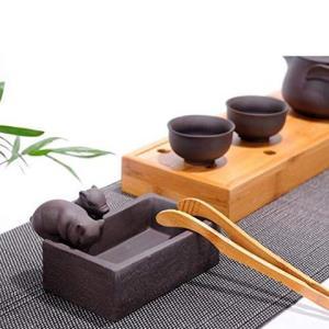 茶宠摆件聚宝盆桌面鱼缸多肉花盆-紫泥 59元