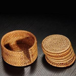 茶道工具越南秋藤编垫杯垫茶垫铁壶垫紫砂养壶垫藤制品组合套装99元