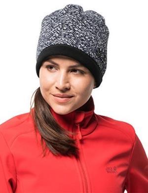Jack Wolfskin 女式贝莱维尔交叉防风羊毛无檐小便帽 63.71元