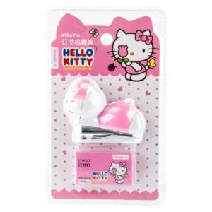 广博(GuangBo)迷你10#订书机+订书钉文具套装 颜色随机/凯蒂猫 单个装KT86216 *5件