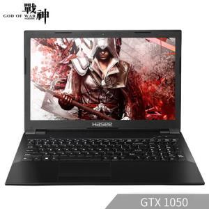 0神舟战神 K670D-G4D5 GTX1050 4G独显 15.6英寸游戏笔记本电脑(G5400 8G 256G SSD 1080P IPS Win10) 3899元