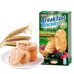 克罗地亚进口 柯麦琳浆果红糖全麦谷物饼干 160g盒装 *12件 101.6元(合8.47元/件)