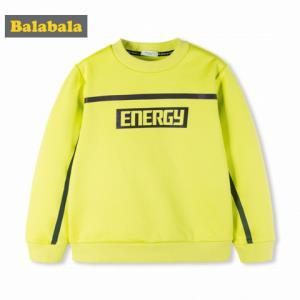 巴拉巴拉男童T恤 长袖2018新款秋冬中大童儿童圆领加绒保暖上衣厚 72.93元