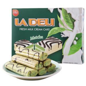 进口蛋糕 得利抹茶奶油夹心蛋糕 涂层饼干 180g/盒 *10件 99元(合9.9元/件)