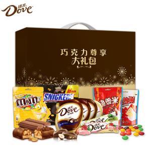德芙巧克力士力架mms多口味9袋礼盒装送女友休闲零食大礼包喜糖果 119.9元
