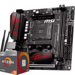 msi 微星 B450I GAMING PLUS AC 电竞板主板+AMD 锐龙 5 2400G CPU 板U套装1750元