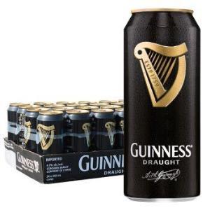 (部分地区好价)健力士(GUINNESS)黑啤酒 440ml*24听 爱尔兰原装进口黑啤酒 整箱装 *2件179元(合89.5元/件)