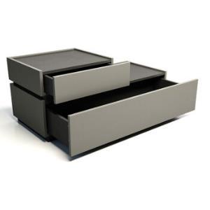 优主意 床头柜储物柜 卧室星斗格 �\橡奶咖色 800mm*446mm*400mm899元