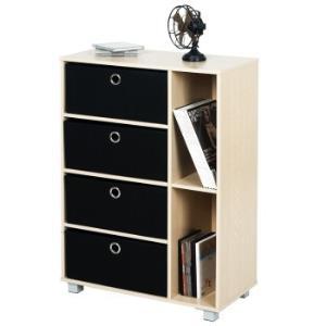 慧乐家 六格多功能带抽收纳柜 简约时尚储物柜 斗柜 木纹色 1115999元