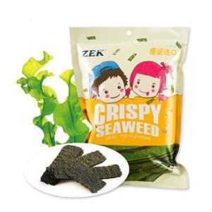 泰国进口(ZEK)休闲零食 调味海苔 脆紫菜 海鲜味 32g/袋 *2件9.9元(合4.95元/件)