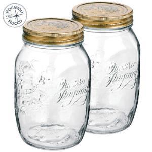 波米欧利(Bormioli Rocco) 无铅玻璃密封罐储物罐玻璃瓶 1000mL*2只装 *2件116元(合58元/件)