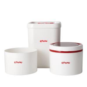 樱舒(Enssu)奶粉盒米粉密封罐零食水果保鲜盒子 宝宝圆形辅食储存罐便携大容量外出装储藏奶粉格ES1702 *2件49.9元(合24.95元/件)