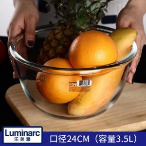 乐美雅(Luminarc) 钢化玻璃面盆3.5L 送750ml利比密封罐 ¥15