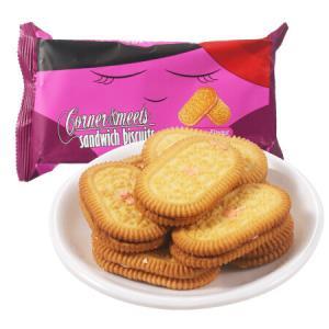 印尼进口 卡乐米斯 Corner Meets 夹心饼干 草莓味 120g/袋 *22件93.6元(合4.25元/件)