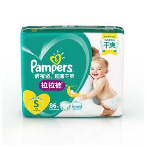 Pampers 帮宝适 超薄干爽 婴儿拉拉裤 S86片 *3件