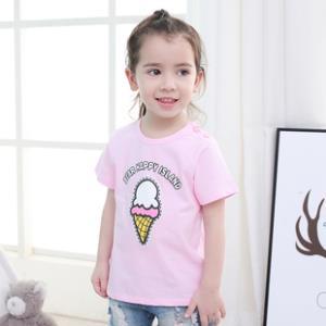 儿童短袖t恤纯棉男童女童半袖宝宝洋气打底衫单件韩版上衣 券后9.5元