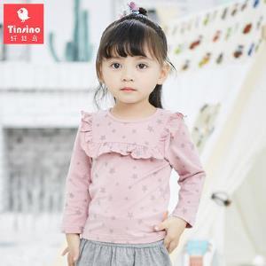 纤丝鸟(TINSINO)童装女童长袖T恤儿童春秋打底衫2018新款宝宝衣服32.7元