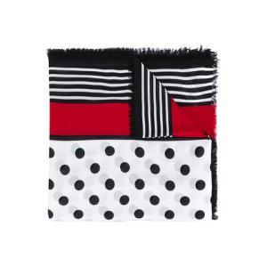 BURBERRY 博柏利 女士黑白波点方形真丝混纺围巾1399元