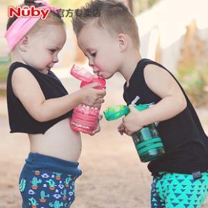 Nuby努比tritan吸管杯宝宝饮水杯按盖儿童学饮杯 幼儿园喝水杯子 券后39元