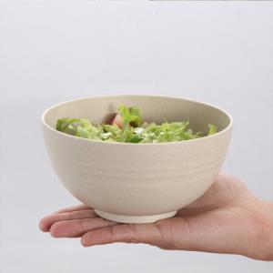 树镇(SHUZHEN) 小麦秸秆碗大号家用饭碗面碗汤碗学生宿舍大碗日式圆形6寸大号泡面碗 北欧米5.9元