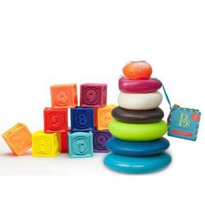 B.Toys 比乐 捏捏乐+叠叠乐套装 129元包邮(需用券)