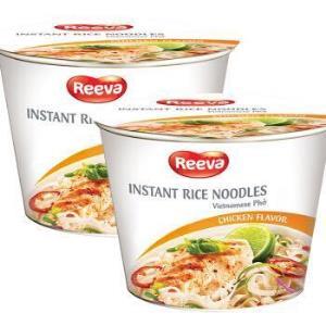 越南进口 阮婆婆(Reeva) 河粉方便面 米面速食 鸡肉味方便河粉 碗面两连包 140g(70g*2碗) *10件98元(合9.8元/件)