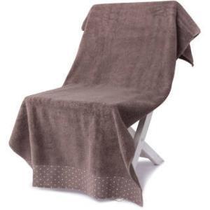 三利 纯棉缎边波点大浴巾 70×140cm 男女同款 柔软舒适吸水裹身巾 泰迪棕 *3件 101元(合33.67元/件)