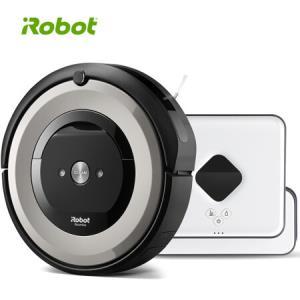 iRobot 扫擦组合 擦地扫地机器人 智能家用全自动洗地拖地吸尘器 e5+381套装    4299元