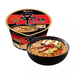 农心 NONG SHIM 辛拉面Black 碗面 方便面泡面速食食品 101g 单碗6.68元