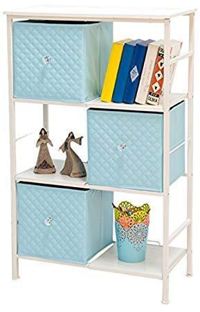 雅客集 六格三抽自由组合收纳柜 创意置物架 文艺层架蓝色 6195元