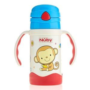 Nuby 努比 不锈钢按键吸管真空保温杯颜色随机 280ml99元
