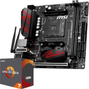 微星(MSI)B450I GAMING PLUS AC 电竞板主板+AMD 锐龙 7(r7) 2700X CPU 板U套装/主板CPU套装2950元