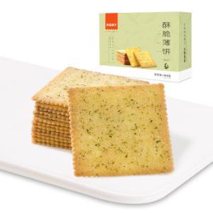 良品铺子酥脆薄饼海苔味300g*14件 116.6元(合8.33元/件)