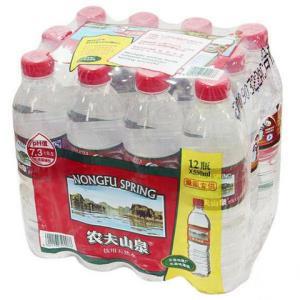 农夫山泉饮用水饮用天然水塑膜量贩装550ml*12瓶14.9元