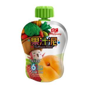 FangGuang 方广 婴幼儿果汁泥 103g 黄桃草莓味 2.99元