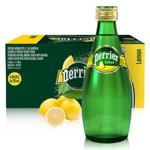 巴黎水(Perrier)天然气泡矿泉水(柠檬味)玻璃瓶装 330ml*24瓶/箱 进口饮用水 法国进口105元