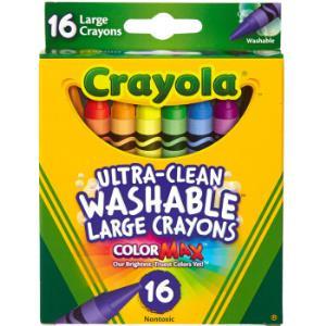 绘儿乐Crayola16色可水洗儿童大蜡笔加粗绘画玩具52-3281*3件    42元(合14元/件)