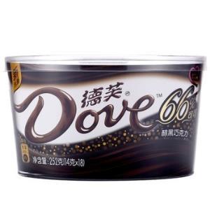 Dove德芙66%醇黑巧克力252g    33.9元