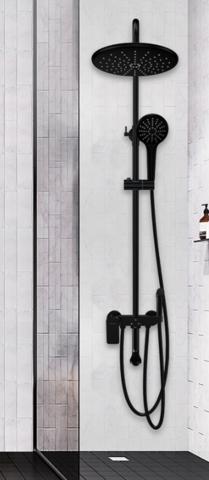 FAENZA法恩莎F3M9827SC黑色系列淋浴花洒套装 644元