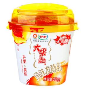 伊利 大果粒 风味发酵乳 芒果 黄桃酸奶 260g7.5元