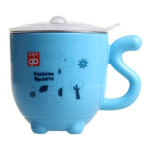 gb 好孩子 儿童双层隔热不锈钢杯 蓝色 *7件 129.3元(合18.47元/件)