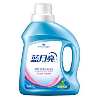 蓝月亮深层洁净洗衣液(自然清香)1kg/瓶*3件 37.2元(合12.4元/件)