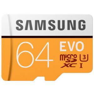 SAMSUNG三星存储卡EVO黄色升级版高速TF卡(MicroSD卡)64G 59.9元